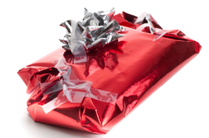badly wrapped gift